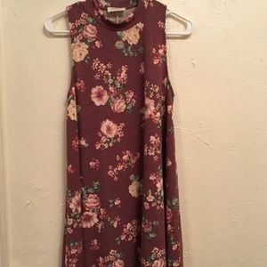 Modcloth mock neck floral dress